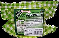 """Сыр """"Здоровье"""" 20% с зеленью мягкий в вакуумной упаковке"""