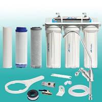 Фильтр под мойку четырёхступенчатый c UV установкой FP-3E-UV, AquaKut