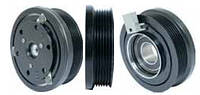 Шкив компрессора кондиционера в сборе Ford FS10 115(122)mm/6pk 12V