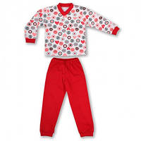 Детская пижама с манжетами на штанах, на рост - 86, 98, 104, 116, 122 см. (арт: 9-34_7)