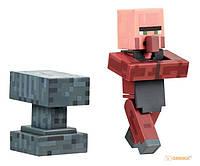 Набор фигурок Minecraft. Blacksmith with Apron and Anvil