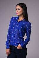 Блузка-рубашка Шифоновая электрик скрипичный ключ
