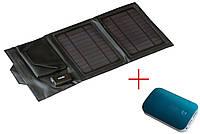 Зарядный солнечный комплект для туризма A7 с аккумулятором