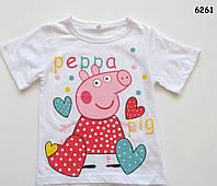 Футболка Peppa pig для девочки. 140 см