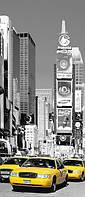 Фотообои на дверь Такси Нью-Йорк 86*200 Код 525