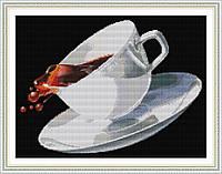 Кофе Набор для вышивки крестом  канва 14ст