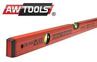 Уровень с порошковым покрытием, красный AWTOOLS  200 см