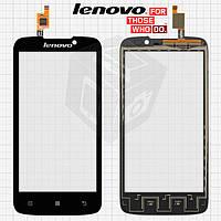 Сенсорный экран (touchscreen) для Lenovo A516, черный, оригинал