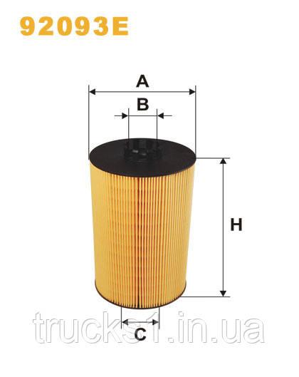 Фільтр оливи MAN 92093E (WIX)
