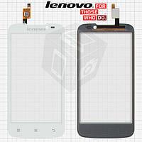 Сенсорный экран (touchscreen) для Lenovo A516, оригинальный (белый)