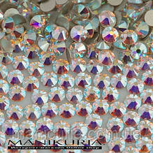 Стрази скло, ss12 Crystal AB, 1440 шт, аналог Swarovski