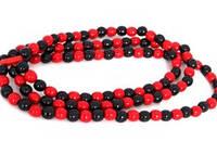 Украшение Ожерелье три верёвки разноцветное Украинский сувенир Д379у Руди, 25 см.
