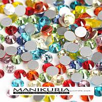 Стразы стекло, ss16 Mix яркий, 50 шт, аналог Swarovski