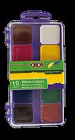 Краски акварельные 10 цветов пласт. кор. ZiBi KIDS Line