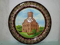 """Тарелка деревянная, """"Пятницкая церковь, г. Чернигов"""", Ø 45 см"""