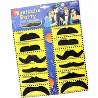 Акция! Накладные усы для вечеринок (mustache party)