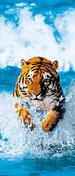 Фотообои на дверь Тигр  86*200 Код 590