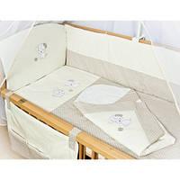 """Детское постельное белье в кроватку+Конверт на выписку новорожденного """"Песик белый"""", фото 1"""