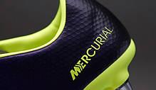 Бутсы Nike Mercurial Vapor X Sg-Pro 555607-570 Синие, Найк меркуриал (Оригинал), фото 3