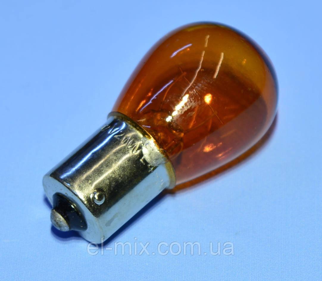Лампочка автомобильная 12V BA15S 21W желтая Vipow  ZAR0177