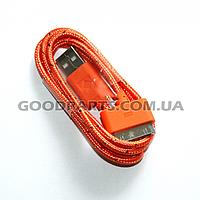 Кабель USB для iPhone 4, iPod, iPad 1.0 м в комплетке оранжевый
