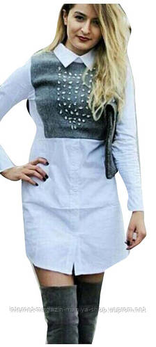 Женская рубашка-платье