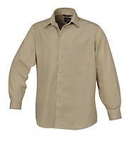 Рубашка хлопковая с длинным рукавом 7543b цвет бежевый - размер xl BETA