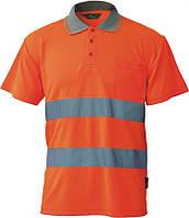 Футболка поло coolpass со светоотражающими элементами vwps01-a (оранжевый) - размер xxl BETA