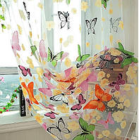 Занавеска с рисунком Бабочки, размер: ширина - 1 м, длина - 2 м