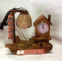 Светильник часы, Парусник, Н24 см, Декор для дома, Освещение для дома, Днепропетровск
