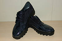 Туфли кожаные женские 36-40 р синие Gerda