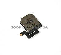 Шлейф для сим коннектора с компонентом для iPad Air (Оригинал)