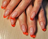 """Нарощування нігтів гелем """"Color френч"""", Салон-перукарня «Доміно» Львiв (Сихів)"""