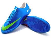 Детские футзалки (бампы) Nike Mercurial Victory IV IC Blue/Volt, фото 1