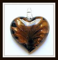 Кулон лэмпворк Сердце