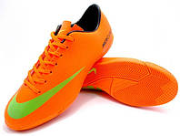 Детские футзалки (бампы) Nike Mercurial Victory IV IC Orange/Black/Volt, фото 1
