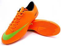 Детские футзалки (бампы) Nike Mercurial Victory IV IC Orange/Black/Volt, фото 1
