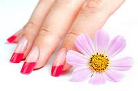 """Корекція нарощених нігтів """"Color френч"""" Салон-перукарня «Доміно» Львiв (Сихів)"""