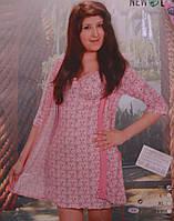Пижама (ночнушка+халат) NEW LIFE