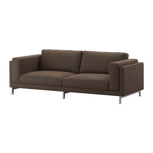 """IKEA """"НОКЕБИ"""" Диван-кровать трехместный, Тено коричневый, дерево"""