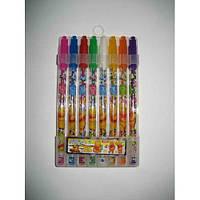 Набор гелевых ручек в пластиковой упаковке 8 цветов Винни Пух с блестками JO HY-001-8