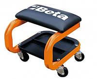 Табурет на колесах оранжевый Beta BE2252O