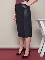 Кожаная юбка Элегия р. 52,54,56,58 черная, синяя