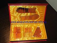 Набор пластин для массажа гуаша из рога буйвола
