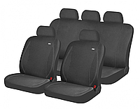 Универсальные чехлы для сидений H&R «PARTNER» Темно-серый\ серая строчка
