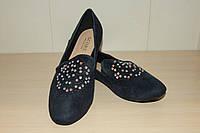 Туфли женские 36-41р  синие