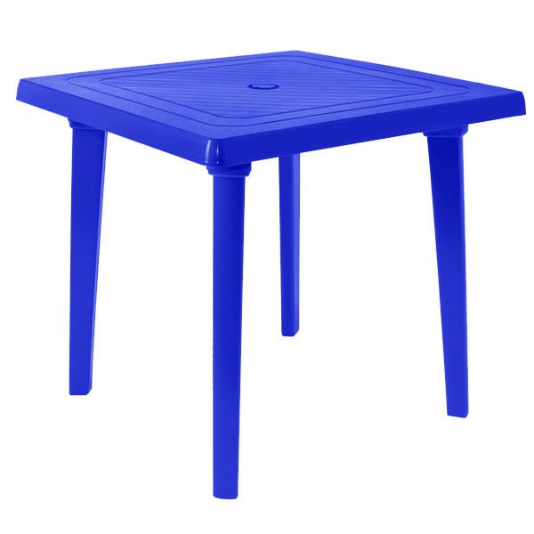 Стол пластиковый квадратный синий