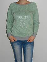 Плотный коттоновый реглан женский под джинсы рр. 46-48 три цвета Турция