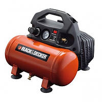 Компрессор Black&Decker безмасляный 6l 0.5 км 8бар 90л/мин.