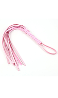 Плетка с хвостиками розовая